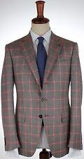 NWT ISAIA BLAZER Gregory jacket cashmere silk grey checks handmade eu 50 us 40