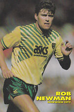 Football Photo ROB NEWMAN Norwich City 1991-92