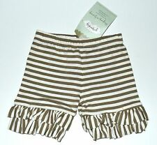 Persnickety Shorts 2 Marley Taupe Stripe Daffodils Dandelions Shortie NEW kg1