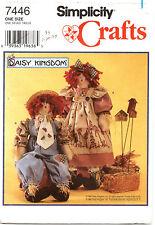 Simplicity 7446 Daisy Kingdom Raggedy Girl & Boy Scarecrow Dolls Sewing Pattern