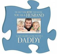 P Graham Dunn Dad Daddy Photo Frame Blue Inspirational Puzzle Wall Art