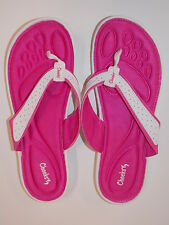 Tony Little Cheeks Barefoot Sandals with Snuggle Foam-Pink/White-Size 7-NEW
