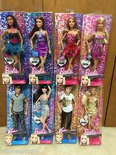 8 Fashionista Barbie Doll Lot Raquelle Teresa Summer Nikki Ken Ryan Sparkle Hair