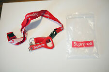 Supreme Red Lanyard Key Ring Chain with Bottle Opener