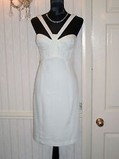 VERSACE COOL WHITE PENCIL DRESS SIZE 12 (Small 44) EXCELLENT CONDITION