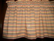 Mustard Yellow Red Olive Green Brown Chevron fall fabric curtain Valance