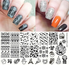 BORN PRETTY Nail Art Stamp Template Image Plate Christmas Design DIY BPX-L008