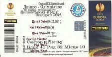 TICKET - EUROPA LEAGUE 2014 - 2015 DNIPRO – OLYMPIAKOS PIREAS - STUB