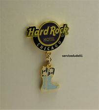 Hard Rock Cafe Chicago Hotel 2008 Snow Flake Boot Shoe Series Logo Dangle Pin #1
