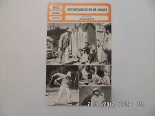 CARTE FICHE CINEMA 1953 LES VACANCES DE M.HULOT Jacques Tati Nathalie Pascaud