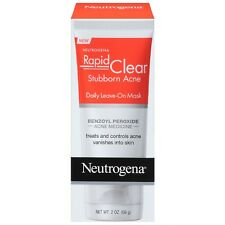 Neutrogena Rapid Clear Stubborn Acne Daily Leave-On Mask 2 oz (Pack of 2)