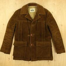 vtg usa made WOOLRICH sherpa fleece lined brown jacket size 38 / MEDIUM 70's 80s