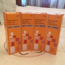 4 X apetamin vitaminas Jarabe - 200ml
