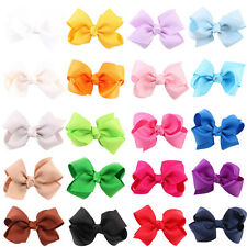 20 pcs Toddler Kids Grosgrain Hair Ribbon Bow Alligator Hair Clips Bows Hairpins