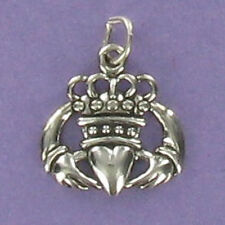 Claddagh Ring Charm Sterling Silver 925 for Bracelet Love Loyalty Friendship