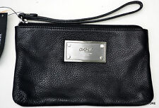DKNY Soft Leather W/Logo Plaque Wristlet Style 744120803 NWT