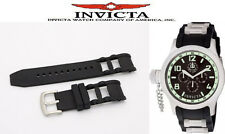 BLACK SILICONE RUBBER WATCH BAND WITH BUCKLE FOR INVICTA RUSSIAN DIVER 26/27MM