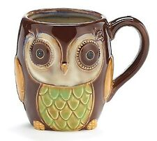 Porcelain Chocolate Owl 12 Oz Coffee Mug/cup Our Owl by Burton & Burton CMU  XCL