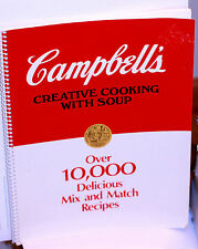 1988 CAMPBELL'S CREATIVE COOKING WITH SOUP-10,000 RECIPES TO MIX & MATCH 96 PGS.