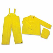 Classic 3-Piece Rain Suits Classic .35Mm Pvc/Polyester Jacket Bibs Hood
