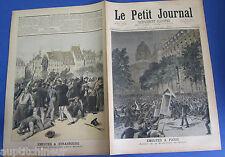 Le petit journal 1893 138 Emeutes à Paris et à Strasbourg