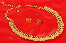GN-02 Bollywood Gold Plated Ethnic Bridal Polki Necklace Earrings Set Jewelry