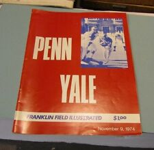 1974 Pennsylvania Quakers vs. Yale Bulldogs College Football Game Program Nov 9