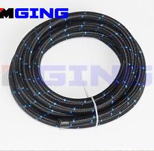 AN10 AN 10 10AN 10-AN Stainless Steel Braided Oil Fuel Line Hose 1 FOOT Blue
