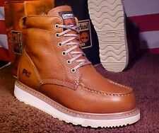 TIMBERLAND PRO MEN 8 1/2 M WEDGE SOLE SOFT TOE RUST COLOR LEATHER BOOT TB053009