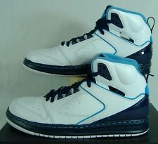 New Mens 11 NIKE Jordan Sixty Club White Blue Leather Basketball Shoes $115