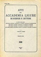 ATTI ACCADEMIA LIGURE SCIENZE LETTERE Vol. XXXII 1976