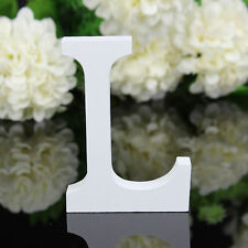 8x1.2cm (thick) L Freestanding Wooden Letter Alphabet Wedding Bridal Party Decor