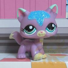 Littlest Pet Shop Animal LPS Toys Gift Sparkle Purple Walking Cat #2386 Rare