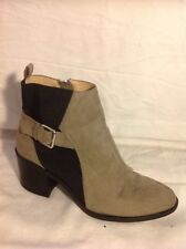 Zara Trafaluc Brown Ankle Boots Size 39