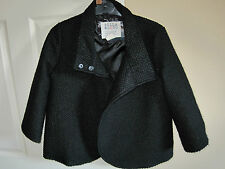 Billabong Lined coat size Small. Black 3/4 Arms Dress Coat