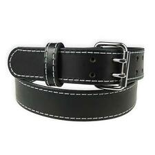 "1 3/4"" Heavy Duty Leather Work_Gun Belt Stitched_2 Prong Buckle_Amish Handmade"