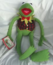 Kermit The Frog Stuffed Animal By Eden For Macys 1994 Christmas Plaid Vest Tie