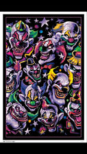 Blacklight Clown Poster! Smile Now Cry Later! Awesome black light! BRAND NEW!