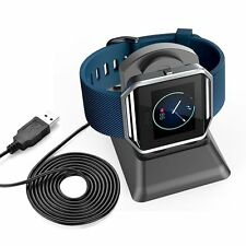USB Charging Cradle Cable Dock Station Holder Charger for Fitbit Blaze S Watch