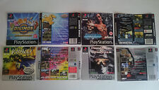 4 PORTADAS y CONTRAPORTADAS:SHADOWMAN,DIGIMON,COMMAND..PLAYSTATION PS1 ESPAÑA