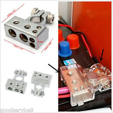2pcs (- and +)Car Battery Terminal Clamp Copper alloy Connector With coversilver