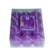 24 Lavender Field Votive Wax Scented Party Candles (2 Packs of 12) Purple