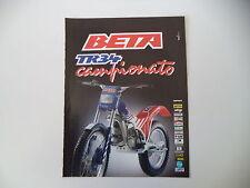 advertising Pubblicità 1989 MOTO BETA TR34 TR 34 CAMPIONATO