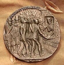 """KARL GOETZ BRITISH MEDAL SINKING CUNARD LUSITANIA DISASTER """"5 MAI"""" MILITIA  WAR"""