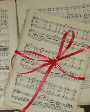 50 Sheets Vintage Music Paper Scores: Crafts Art Decoupage Cards