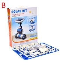 New DIY 6 IN 1 Educational Learning Power Solar Robot Kit Children Kids Toy Best