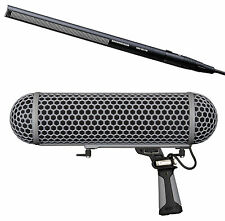 Sennheiser MKH-416 Shotgun Microphone with Rode Blimp Windshield