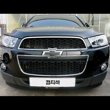 Carbon Fiber Bowtie Grille & Trunk Emblem Cover Wrap For Chevy Captiva