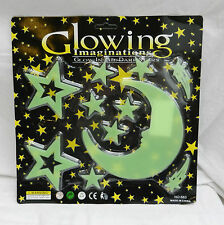 Glowing imaginations-glow in the dark autocollants-night sky-stars & moon pack