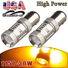 2x Amber/Yellow 1157 BAY15D OSRAM High Power 30W Turn Signal LED Light Bulbs